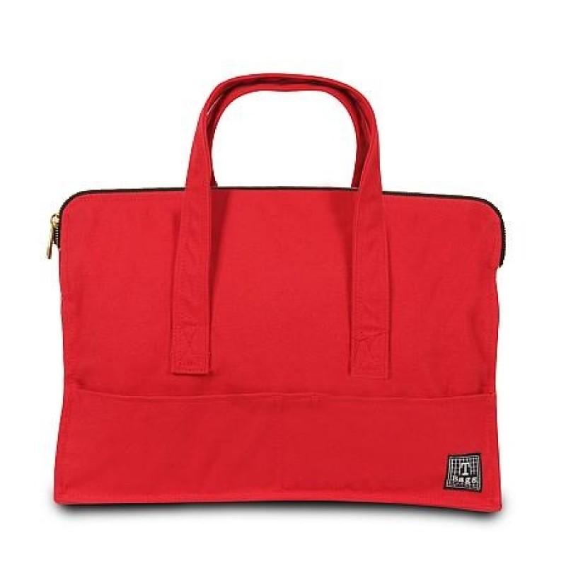 T-Bags Linen Bag - Red (TBCB010R)