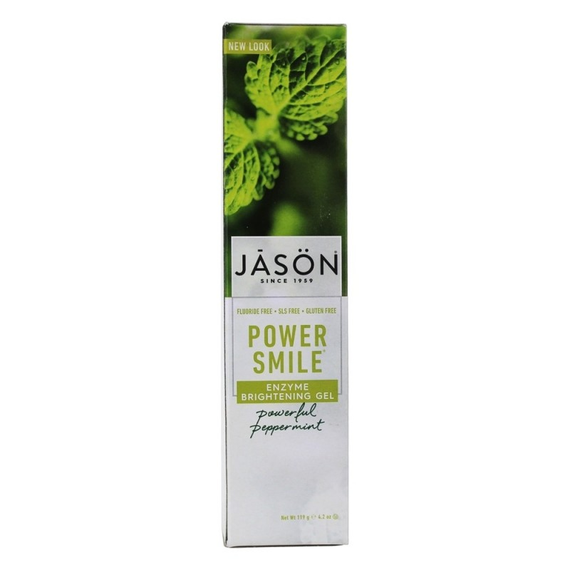 美國傑森亮白潔齒牙膏 (強效薄荷) Jason Powersmile Whitening Toothpaste (Powerful Peppermint)