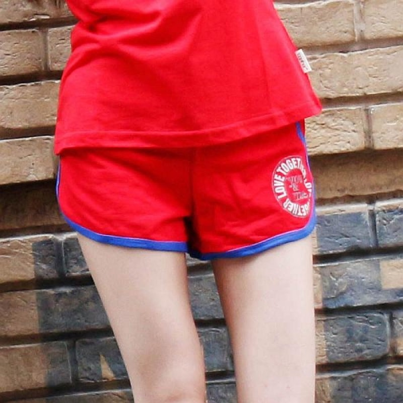 Together Cotton Red Female Shorts (6124FR)