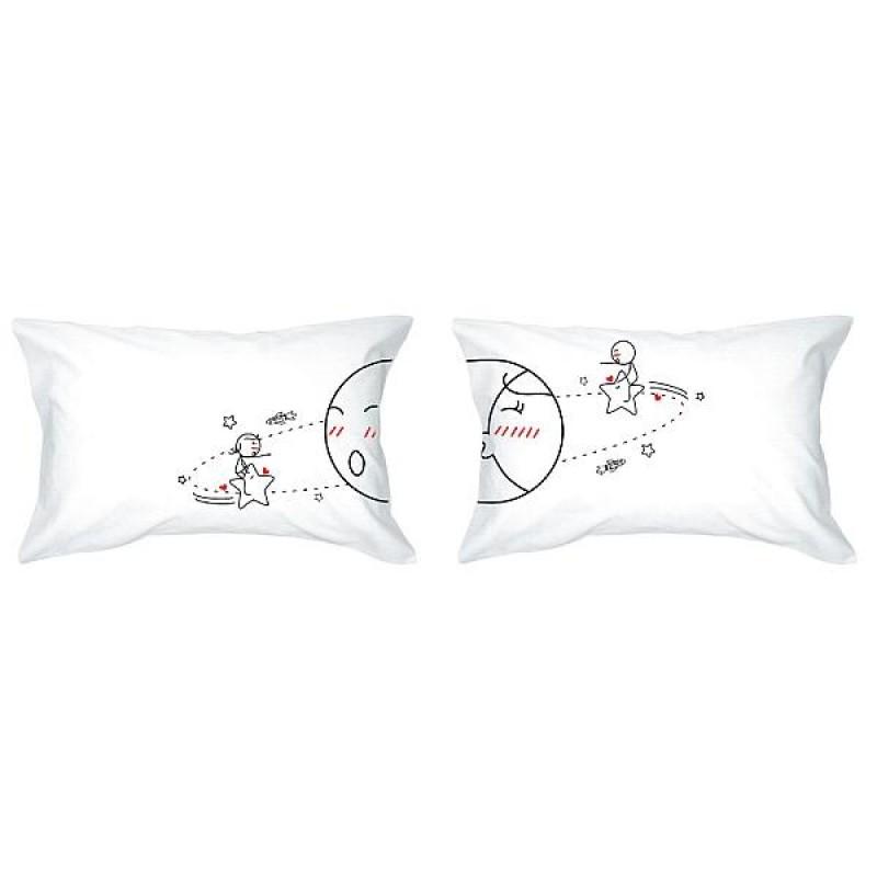 "Human Touch ""Satellite"" Set / 2 Couple Pillow Case (3HT04-131)"