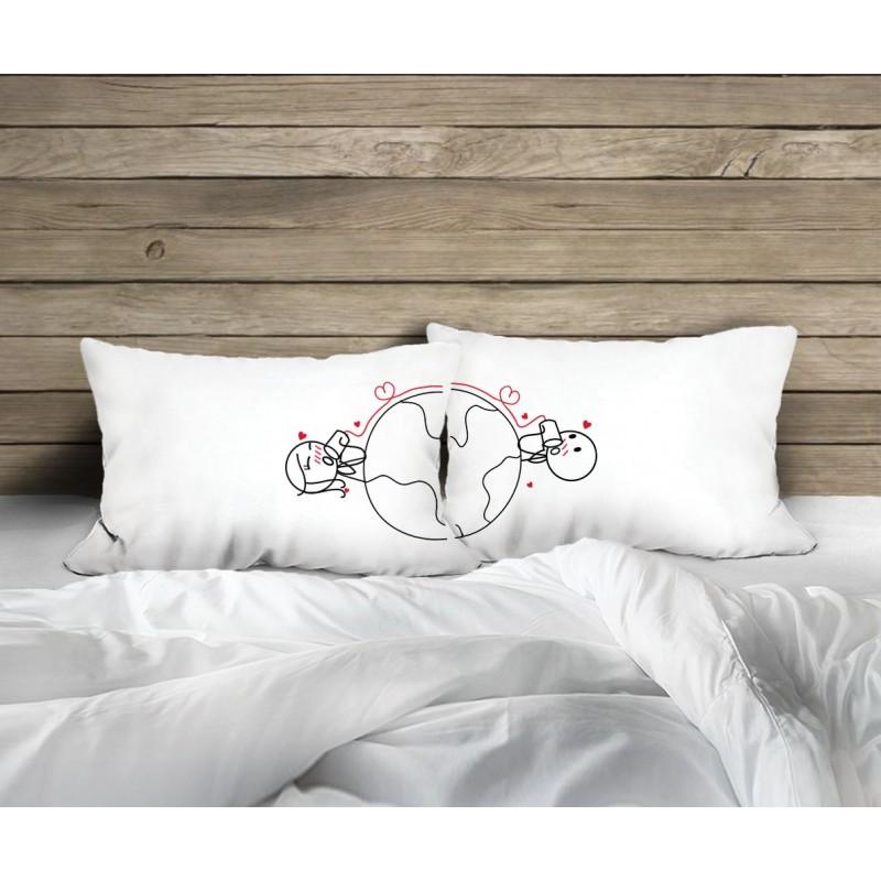 "Human Touch ""The Talk"" Set / 2 Couple Pillow Case (3HT04-118)"