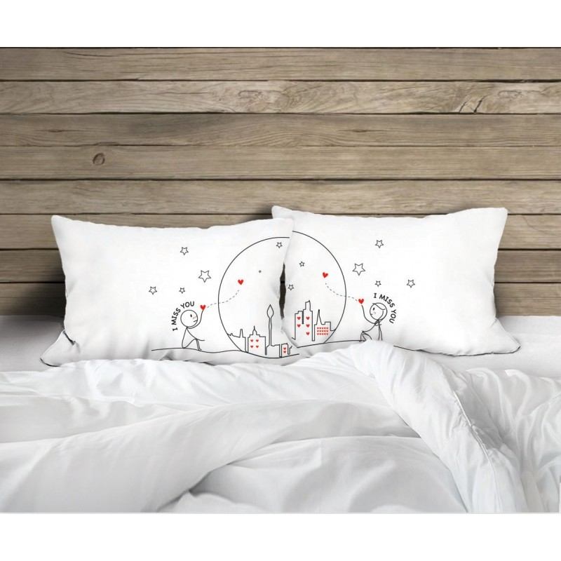 """Human Touch """"Wish Upon A Star"""" Set / 2 Couple Pillow Case (3HT04-129)"""