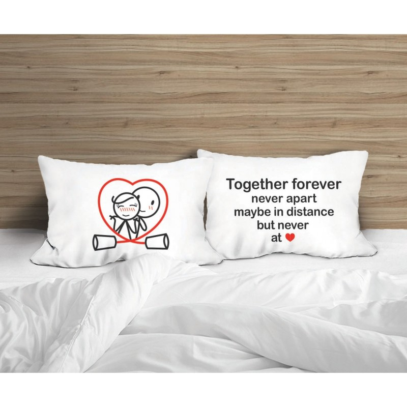 """Human Touch """"Together Forever"""" Set / 2 Couple Pillow Case (3HT04-150)"""