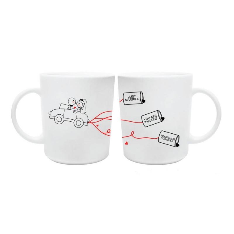 "Human Touch - Boy Meets Girl ""Just Married Car"" Mug (3HTT04-114) 1pc only"