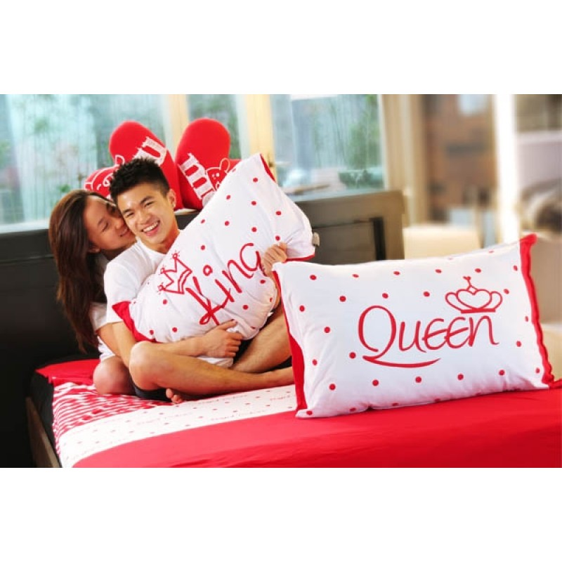 "Together ""King & Queen"" Set / 2 Pillow Case (BSPW1201R)"