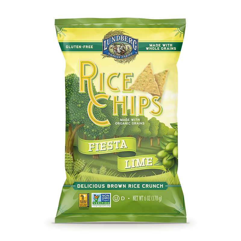 "美國有機青檸全穀脆米片""Lundberg""ORGANIC WHOLE GRAIN RICE CHIPS(FIESTA LIME)"