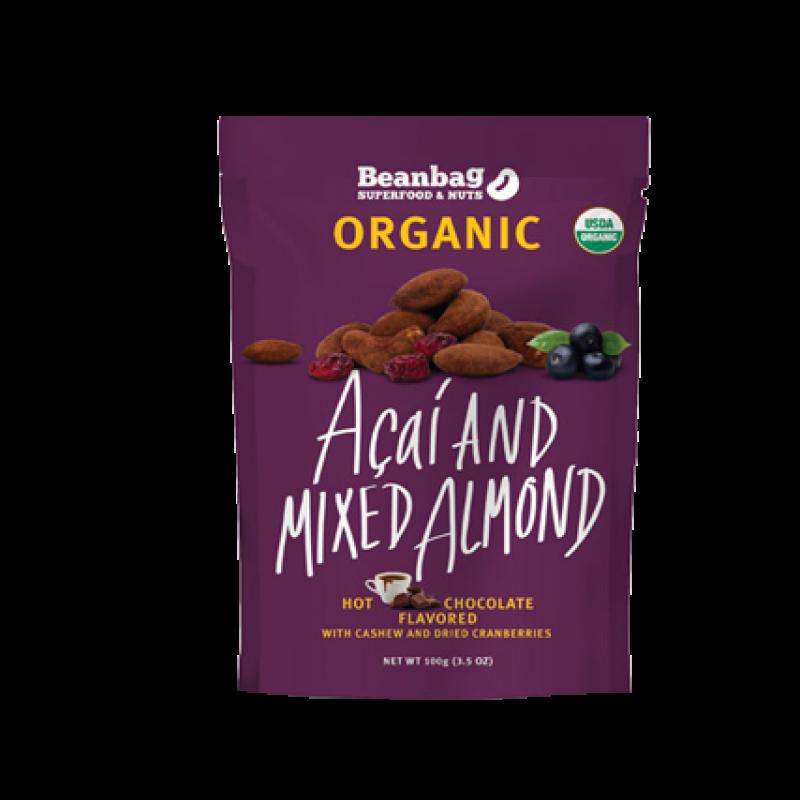 豆袋有機巴西紫莓蔓越莓雜果杏仁 (朱克力味) Beanbag Organic Acai and Mixed Almond (Hot Chocolate Flavored)