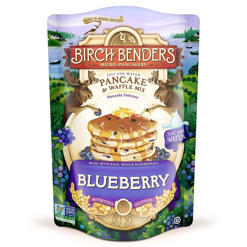 "美國藍莓班戟窩夫粉""Birch benders"" BLUEBERRY PANCAKE & WAFFLE MIX"