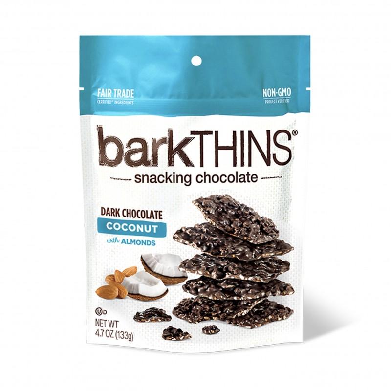 美國黑朱古力椰子杏仁薄脆 Bark Thins Dark Chocolate Coconut with Almonds