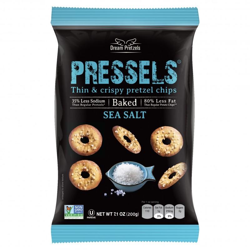 "健康薄脆餅小吃 (海鹽) ""DREAM PRETZELS"" PRESSELS THIN & CRISPY PRETZEL CHIPS (SEA SALT)"