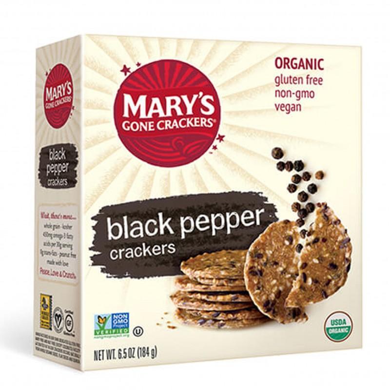 """美國有機無麩質全穀物餅乾 (黑胡椒味) MARY'S GONE CRACKERS - ORGANIC GLUTEN FREE """"BLACK PEPPER"""" CRACKERS"""