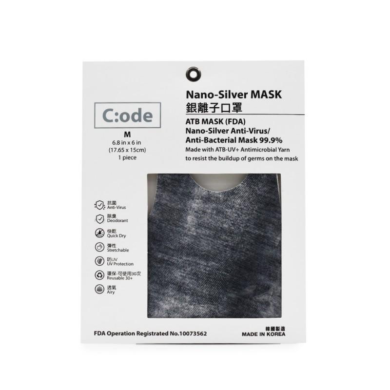 C:ODE銀離子口罩 (黑色牛仔) C:ODE NANO SILVER MASK BLACK DENIM