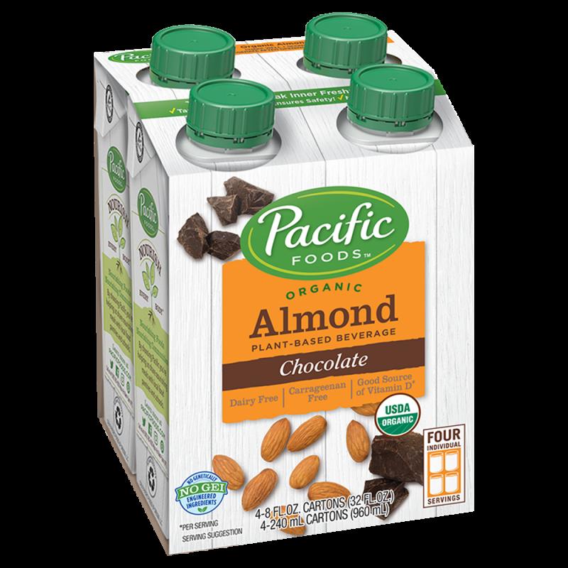 "美國有機杏仁朱古力植物奶(四盒裝)""Pacific Foods"" ORGANIC ALMOND CHOCOLATE PLANT-BASED BEVERAGE 4 CARTONS"