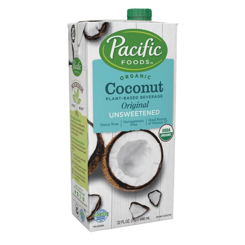 美國有機無糖椰子原味植物奶 Pacific Foods Organic Unsweetened Coconut Original Plant-based Beverage