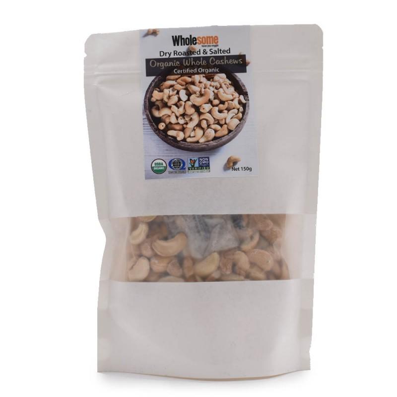 食養有機熟腰果 (有鹽) Wholesome Organic Dry Roasted Whole Cashews (Salted) 150g
