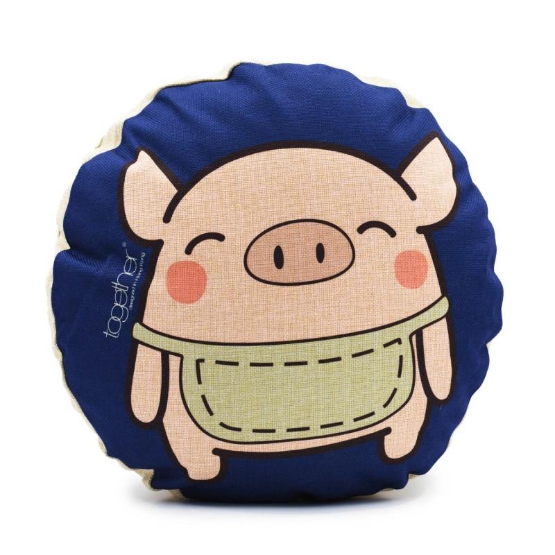 """Together """"Pingi"""" Circle Cushion (302292BL) 1件"""