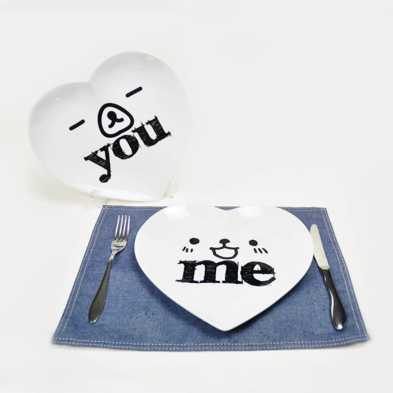 """Together """"You & Me"""" Set / 2 Plate (PL161281_82)"""