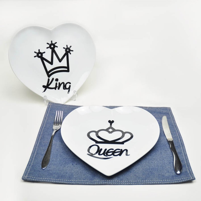 "Together ""King & Queen"" Set / 2 Plate (PL161285_86)"