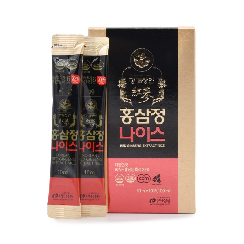 江開商人 - 韓國紅蔘精 Nice 10毫升x10包 KANGGAE MERCHANT - Red Ginseng Extract Nice 10ml x 10packet