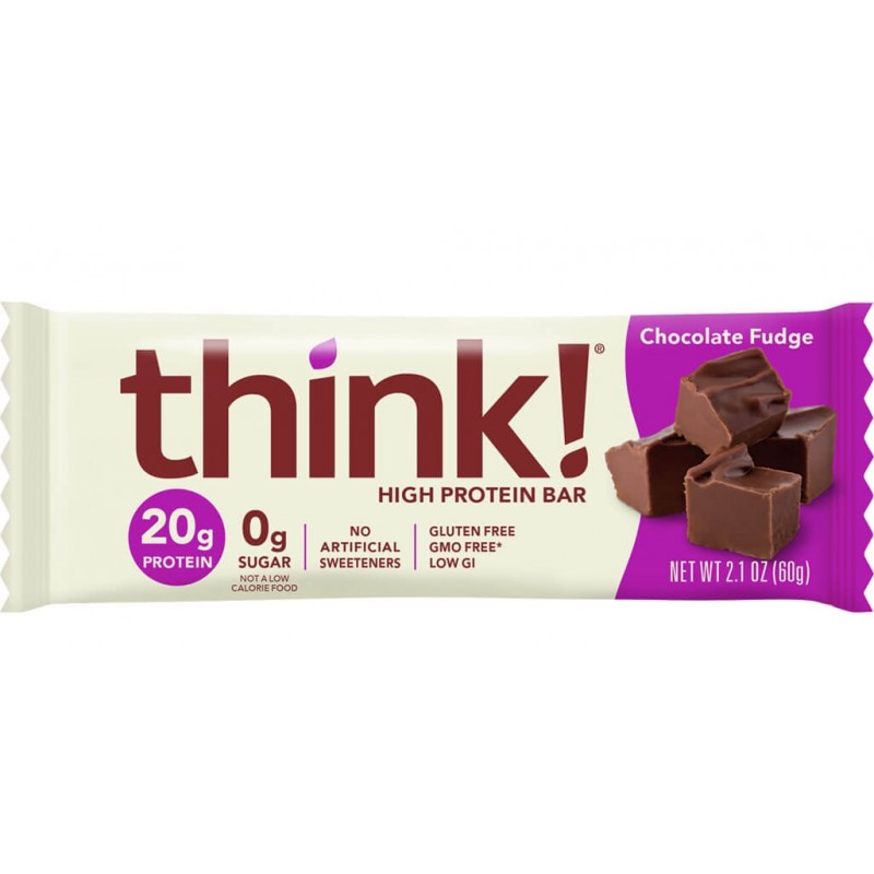 美國瘦身高蛋白質能量棒 (朱古力軟糖) THINK! HIGH PROTEIN BAR - Chocolate Fudge