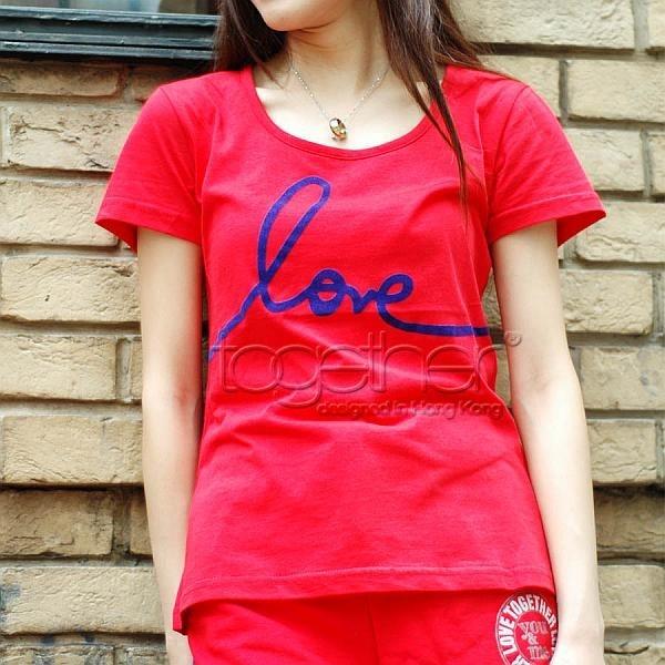 "Together ""LOVE"" Tee Shirt - Girl 女裝Tee恤 (2533F)"