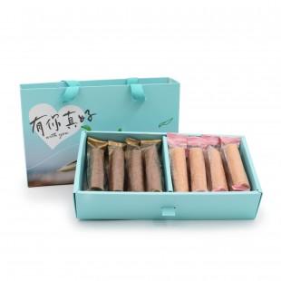 台灣手工蛋卷禮盒(朱古力&花生口味) CHOCOLATE & PEANUTS HANDMADE EGG ROLLS GIFT BOX