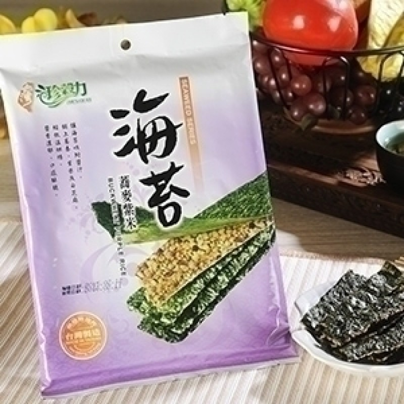 珍穀力海苔蕎麥紫米夾心脆片 Zhen Gu Li Buckwheat Purple Rice Seaweed Sandwich Cakes