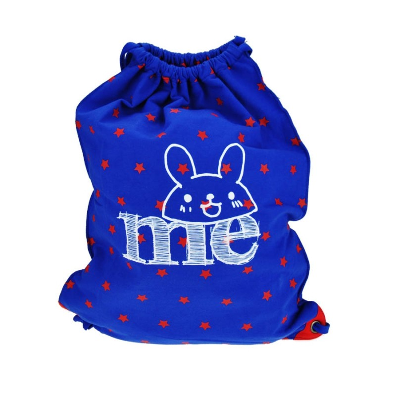 "Together ""ME"" Drawstring Bag Red with Blue Star 索繩藍色紅星星輕巧背包 (2174RB)"