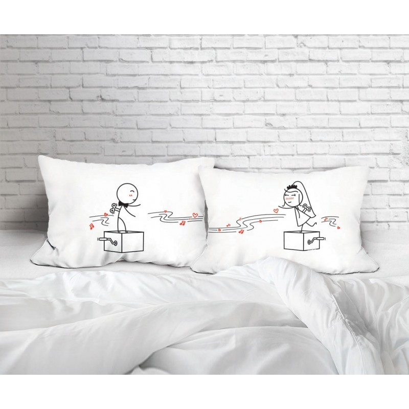"Human Touch ""Music Box"" Set / 2 Couple Pillow Case (3HT04-144)"