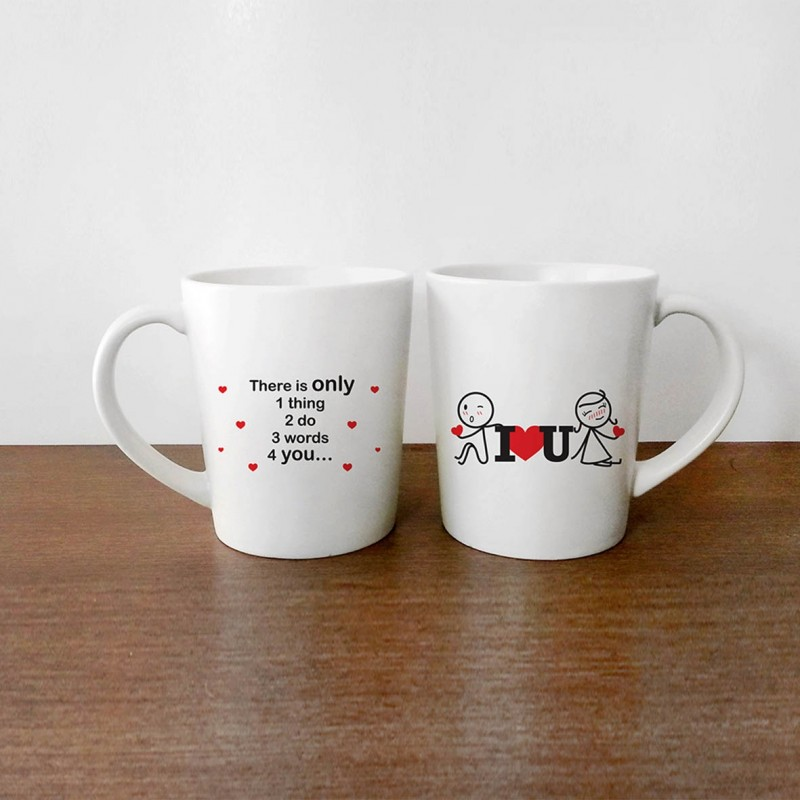 """Human Touch - Boy Meets Girl """"Lean on I love you"""" Mug (3HTT04-152) 1pc only"""