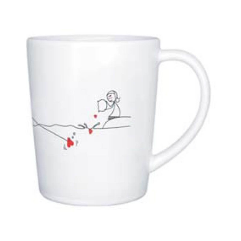 "Human Touch - Boy Meets Girl ""Catch my Heart"" Mug (3HTT04-54) Stoneware Mug Set of Two Identical Mugs"