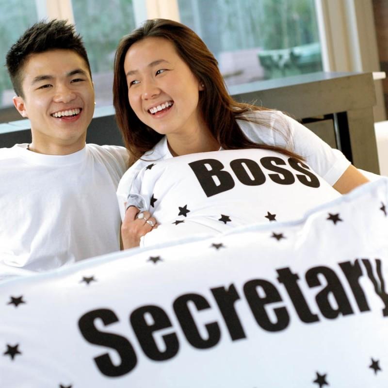 "Together ""Boss & Secretary"" Set / 2 Pillow Case (BSPW1202BK)"