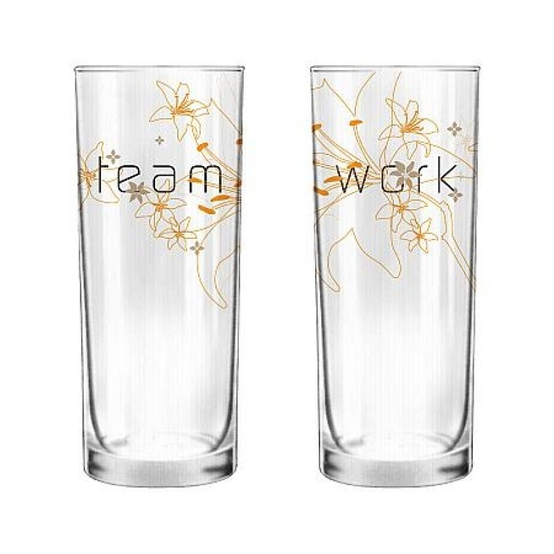 """Human Touch - Nature Touch """"Team Work"""" Set / 2 Glass (GL301480)"""