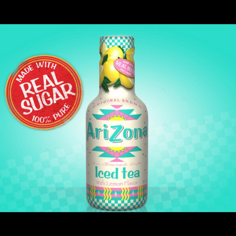 檸檬味冰茶 AriZona Iced Tea with Lemon Flavor 500ml