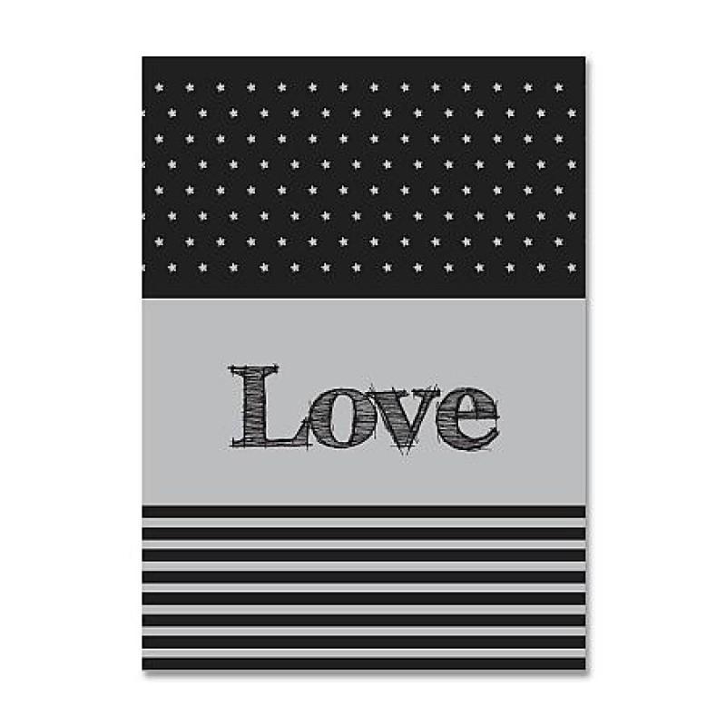 "Together ""Love"" (Single) Twin Size Duvet (BSD1203TGY)"