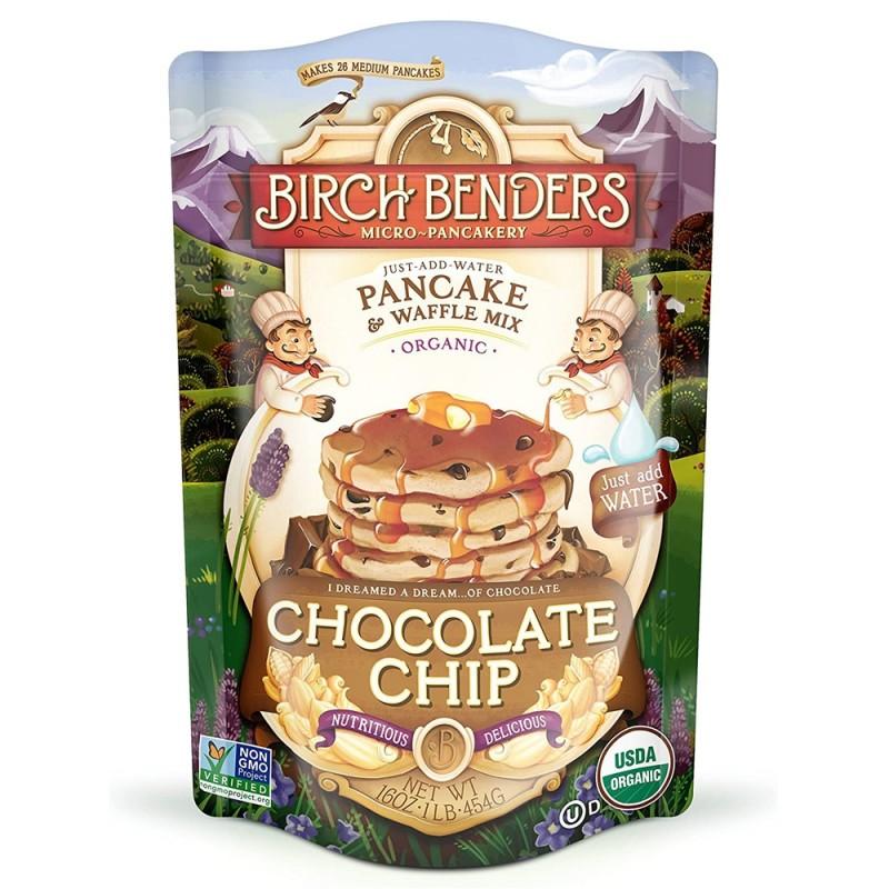 """美國有機朱古力粒班戟窩夫粉""""Birch benders"""" ORGANIC CHOCOLATE CHIP PANCAKE & WAFFLE MIX"""