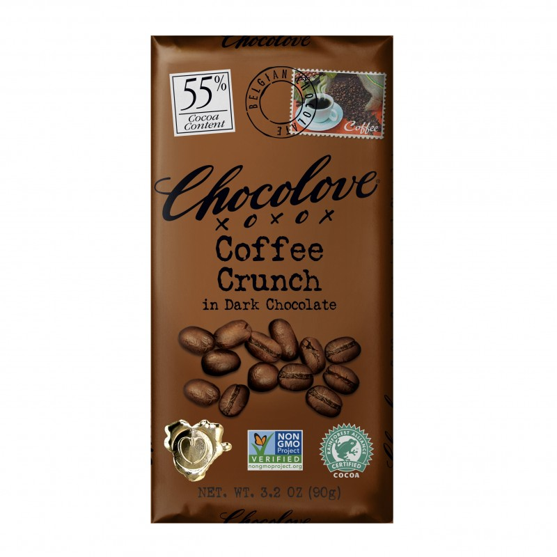 "美國55%可可含量咖啡脆脆黑朱古力 ""CHOCOLOVE"" 55% Cocoa Content Coffee Crunch in Dark Chocolate"