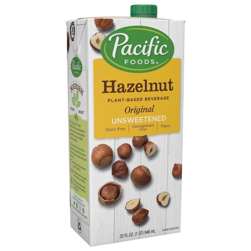 """美國無糖榛子原味植物奶""""PACIFIC FOODS""""HAZELNUT UNSWEETENED ORIGINAL PLANT-BASED BEVERAGE"""