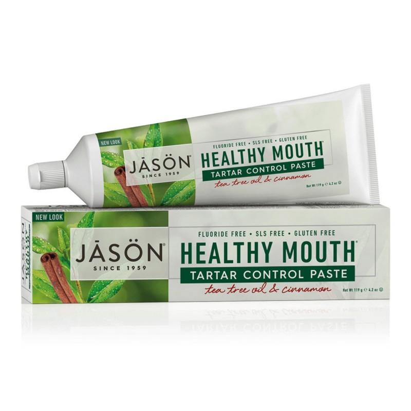 美國傑森防牙垢和牙垢控制牙膏 (茶樹和肉桂) Jason Healthy Mouth Antiplaque & Tartar Control Paste (Tea Tree Oil & Cinnamon)
