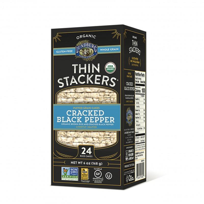 美國有機米通餅 (碎黑胡椒) Lundberg ORGANIC THIN STACKERS (CRACKED BLACK PEPPER)