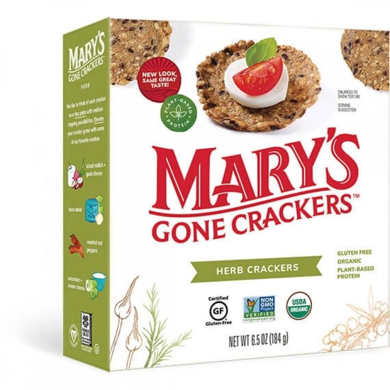 """美國有機無麩質草本全穀物餅乾""""Mary's Gone""""ORGANIC GLUTEN FREE HERB CRACKERS"""