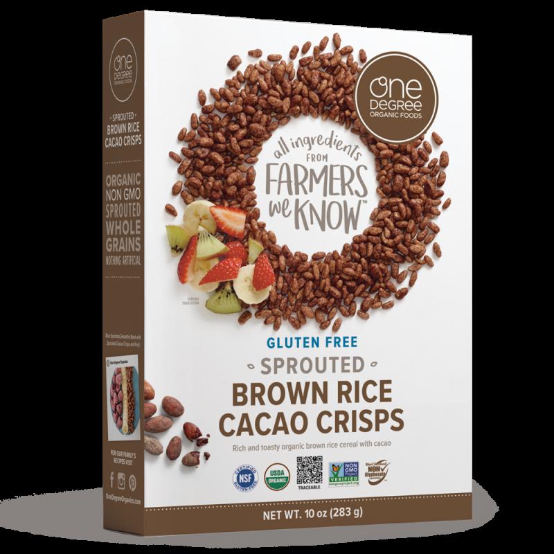 """美國有機無麩質可可脆米 """"ONE DEGREE"""" ORGANIC FOODS Gluten Free Sprouted Brown Rice Cacao Crisps"""