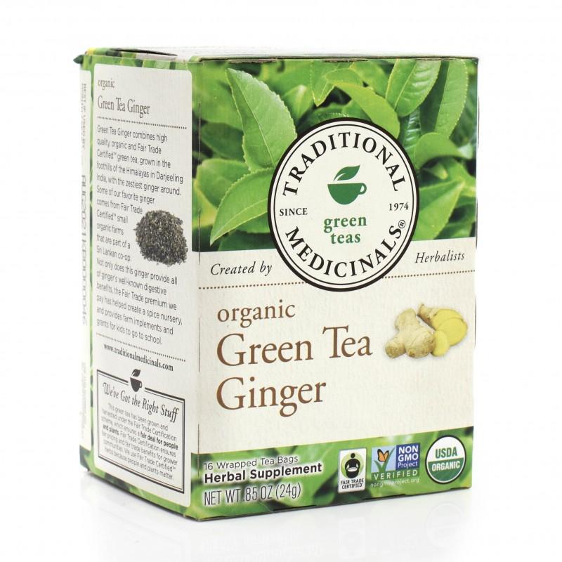 """(08/2021) 美國有機綠茶生薑草本茶 """"Traditional Medicinals"""" Organic Green Tea Ginger Herbal Tea  (已過最佳食用日期)"""