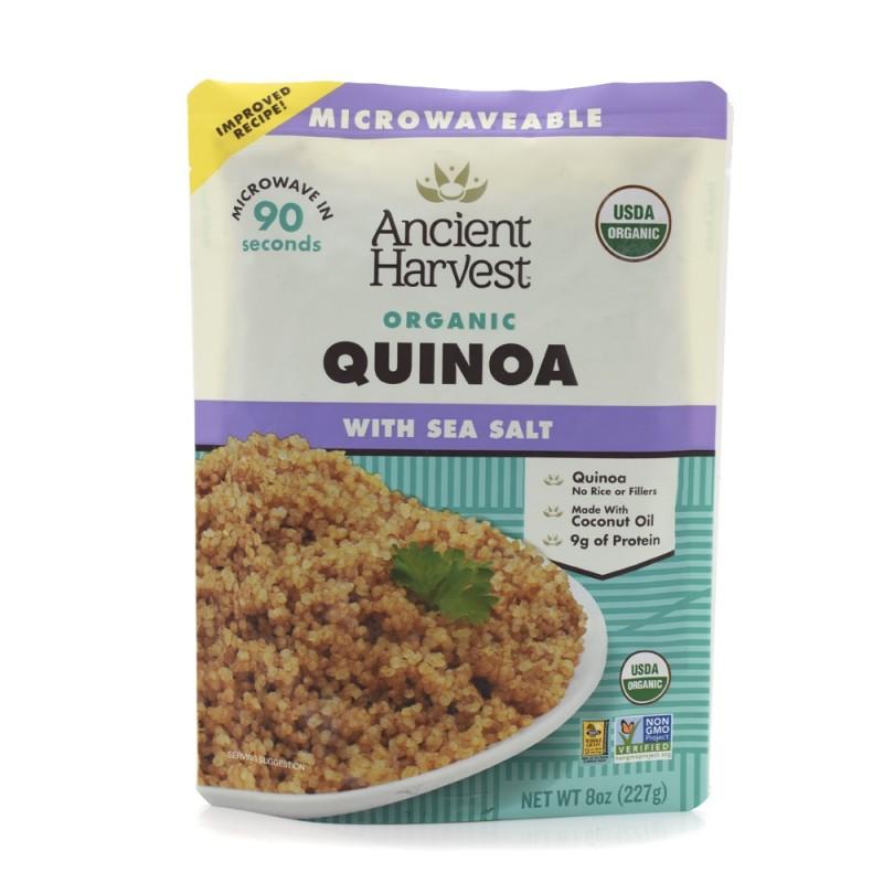 "(09/2021)美國有機海鹽藜麥 (微波加熱即食) ""Ancient Harvest"" Organic SEA SALT MICROWAVABLE HEAT-AND-EAT QUINOA (快將到期)"
