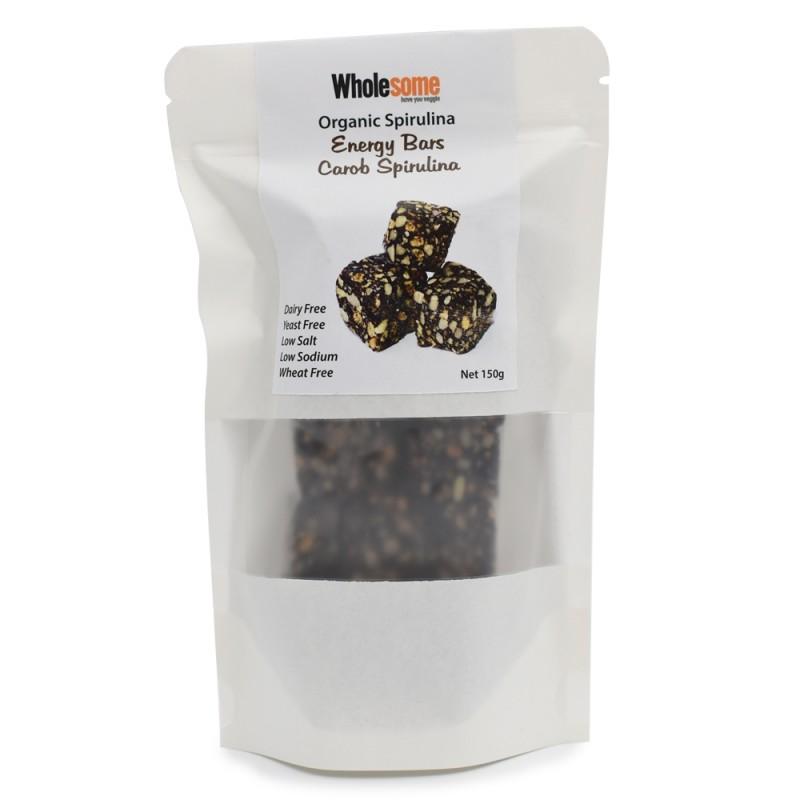 食養有機螺旋藻雜果仁粒 Wholesome Organic Spirulina Energy Bar with Seeds and Nuts 150G