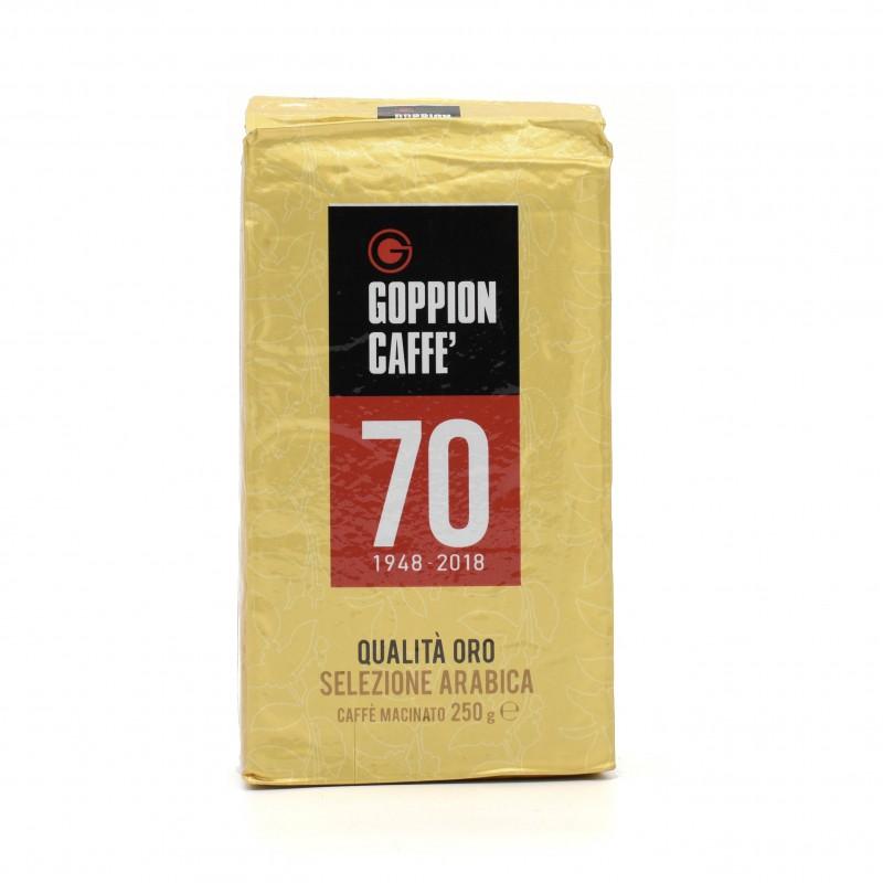Goppion Caffe - QUALITA ORO SELEZIONE ARABICA (GROUND COFFEE - MADE FROM WHOLE COFFEE BEANS) 意大利金質量阿拉伯咖啡粉 (由咖啡豆磨製而成) 250g