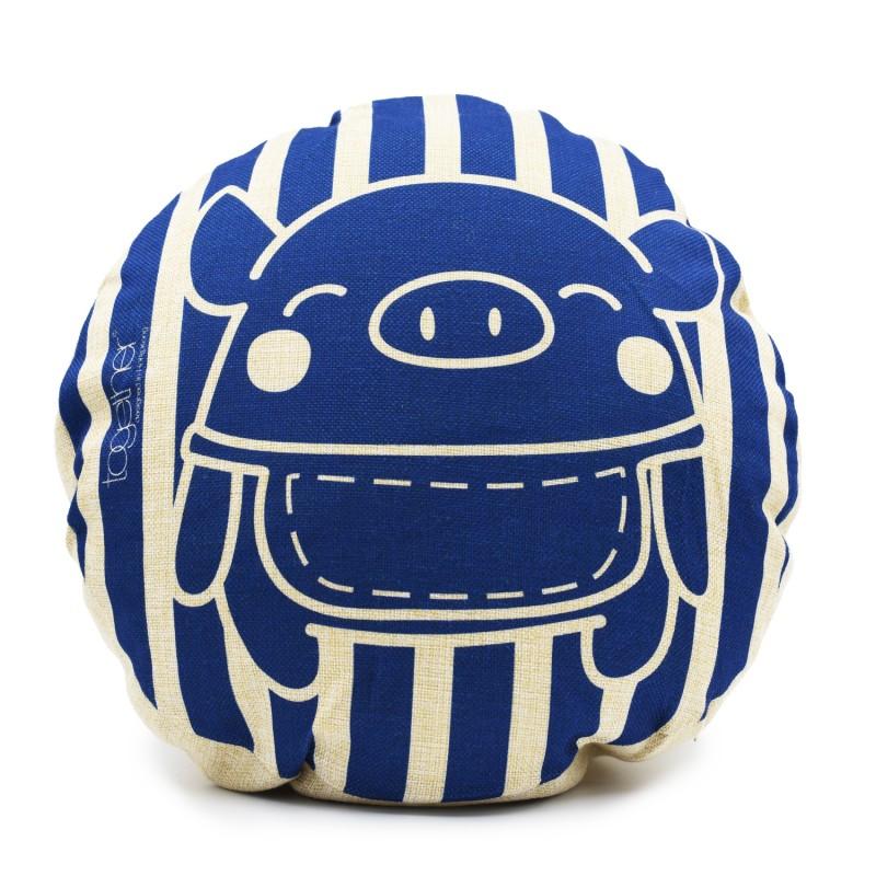 """Together """"Pingi Stripe"""" Circle Cushion (302294BL) 1件"""