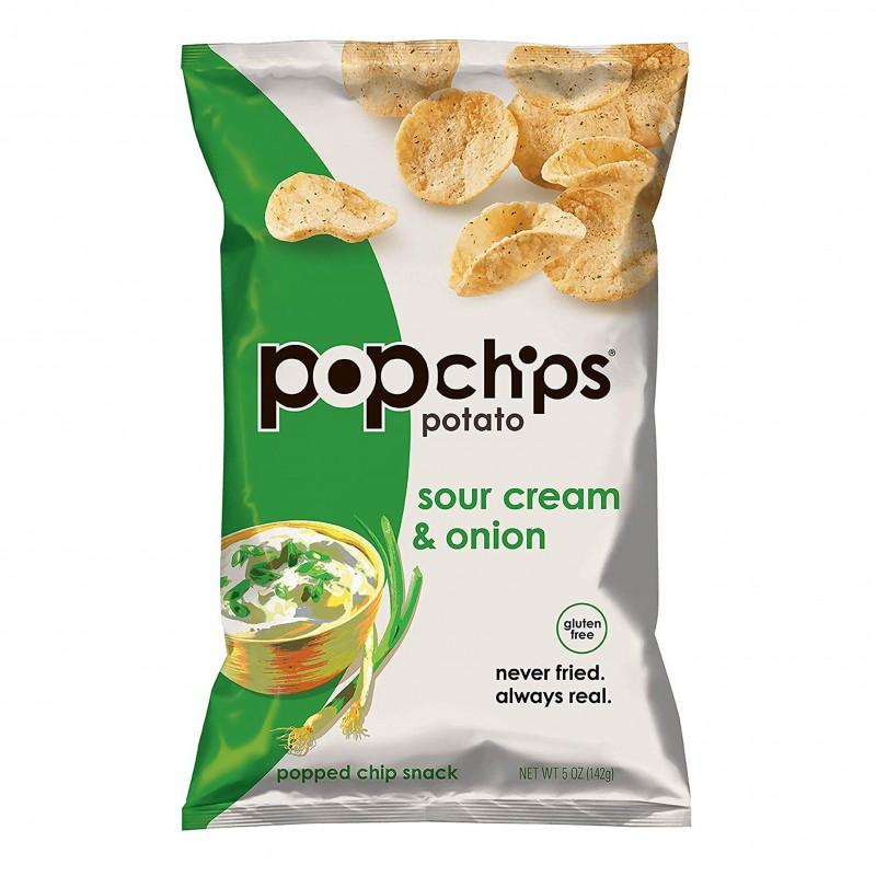 "美國無麩質非油炸酸忌廉洋蔥薯片 ""POPCHIPS"" Gluten Free Sour Cream & Onions Potato Chips"
