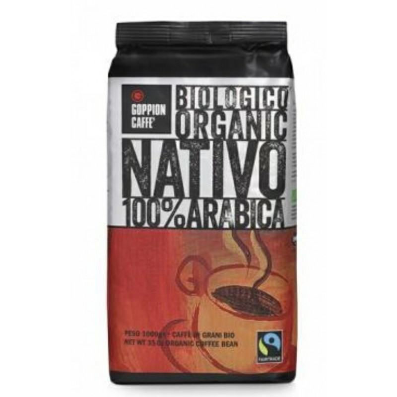 """意大利納特沃天然有機咖啡豆1公斤 """"GOPPION CAFFE""""NATIVO ORGANIC ROASTED COFFEE BEANS 1KG"""