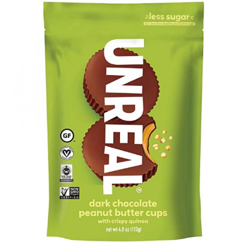 Unreal 黑巧克力脆藜花生醬杯 dark chocolate crispy quinoa peanut butter cups